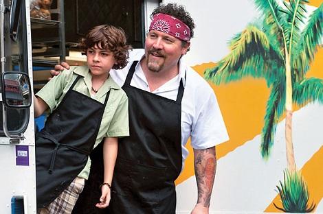 Chef (2014) Emjay Anthony as Percy Casper and Jon Favreau as Carl Casper