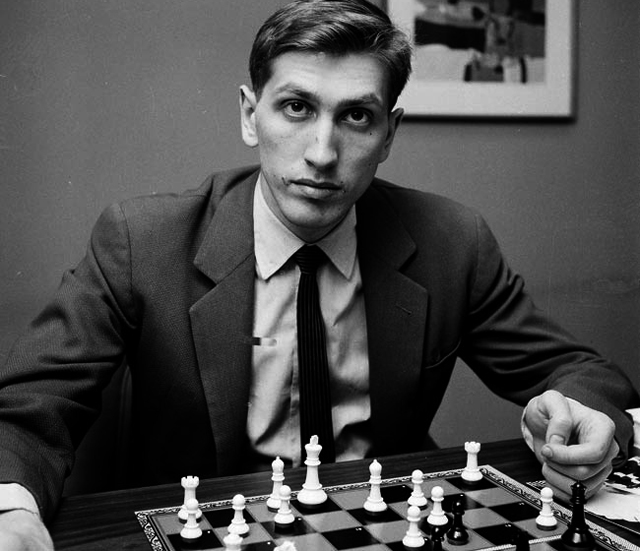 ** FILE ** Chess star Bobby Fischer is seen in New York, in this April 28, 1962 file photo. U.S-born Fischer, who renounced his U.S. citizenship, has died at the age of 64 at his home in Reykjavik, Iceland's Channel 2 television reported Friday, Jan. 18, 2008. Credit:John Lent/AP