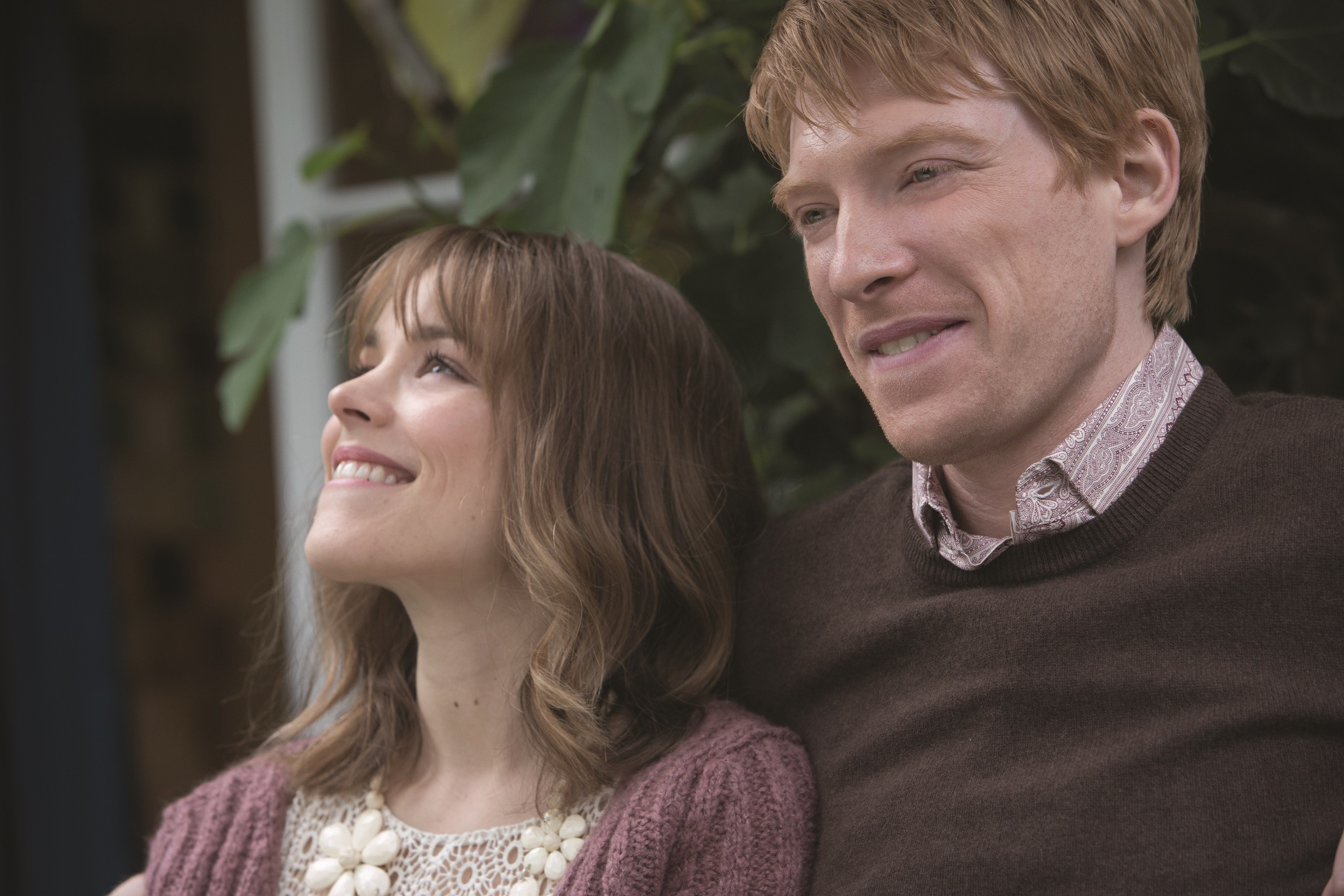 "Mary (RACHEL MCADAMS) and Tim (DOMHNALL GLEESON) in ""About Time"", the new comedy about love and time travel from writer/director Richard Curtis, which discovers that, in the end, making the most of life may not need time travel at all."