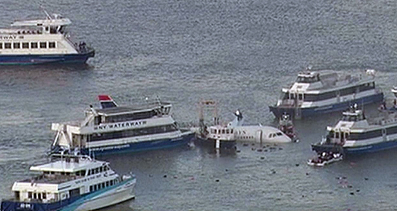 January 15, 2009: Video stills of news coverage of US Airways Flight Number 1549 en route to Charlotte, North Carolina from LaGuardia Airport that has crashed in the Hudson River in New York City. N/C Ref.: infusny-03 IMPORTANT NOTICE: The attached image is a high-resolution video-still, supplied by Insight News & Features, Inc. (INF). INF does not own, nor does it claim to own, the copyright or any license to the image. Any fees charged by INF for the image are for the supply of the material and do not, and are not intended to, convey to the user any copyright or license rights. By accepting submission of the image, the end-user accepts the full responsibility of obtaining copyright clearance from the copyright holder prior to publication. Also, the end-user agrees to fully indemnify INF from any and all legal claims, demands or causes of action arising out of, or connected with, the user's use or publication of the image. If the end-user does not, or cannot, comply with all of the above restrictions, the image should not be used or published by that end-user.