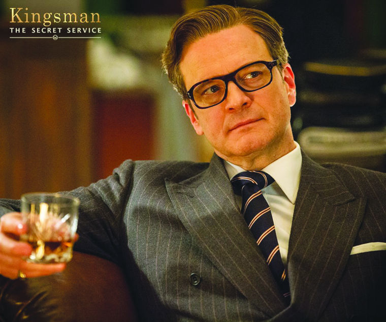 Kingsman harry with glass
